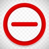 Дорожный знак запрета с тенью Предел, знак ограничения иллюстрация штока