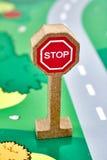 Дорожный знак игрушки Стоковые Изображения RF