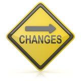 Дорожный знак - изменения вперед иллюстрация вектора