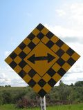 дорожный знак конца Стоковое Изображение RF