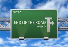 дорожный знак конца Стоковые Фото