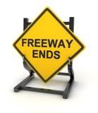 Дорожный знак - концы скоростного шоссе иллюстрация вектора