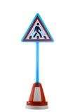 дорожный знак пешехода скрещивания Стоковые Фото