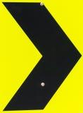 Дорожный знак правого загиба/кривой Стоковое фото RF