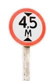 дорожный знак предела высоты Стоковые Фотографии RF