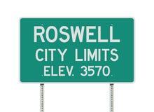 Дорожный знак пределов города Roswell иллюстрация вектора