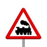 дорожный знак рельса скрещивания Стоковое Изображение