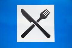 дорожный знак ресторана Стоковая Фотография RF