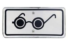 Дорожный знак слепых пешеходов дополнительный квадратный изолированный на whit Стоковые Фото