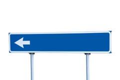 дорожный знак столба стрелки голубым изолированный направляющим выступом Стоковое Изображение