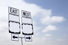 Дорожный знак с пустым пространством Стоковые Изображения RF