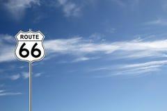 Дорожный знак трассы 66 Стоковое Изображение