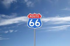 Дорожный знак трассы 66 Стоковые Изображения