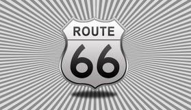 Дорожный знак трассы 66 Стоковое Изображение RF
