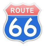 Дорожный знак трассы 66 Стоковое Фото