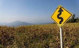 Дорожный знак для осложняет путь Стоковые Изображения RF