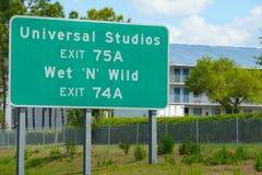 Дорожный знак для студий Universal Стоковые Фотографии RF