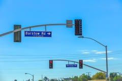 Дорожный знак Barstow стоковая фотография rf