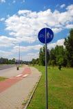 дорожный знак bike Стоковая Фотография RF