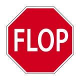 дорожный знак flop Иллюстрация штока