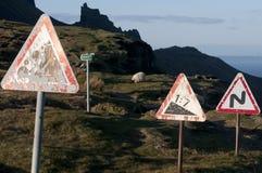 дорожный знак warining стоковое изображение rf