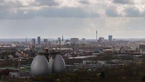 Дортмунд, увиденный от Deusenberg, Германия стоковые фото