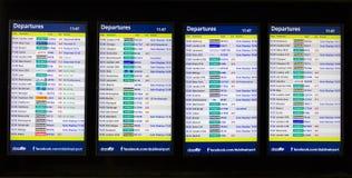 Доска данным по авиапорта стоковые фотографии rf