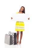 Доска африканской женщины белая Стоковые Фото