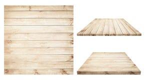Доска Брайна деревянная, таблица, поверхность пола, деревянная текстура Предметы изолированы на белой предпосылке Стоковые Изображения RF