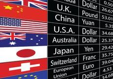 Доска валюты иллюстрация вектора