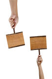 Доска в руке Стоковое Изображение
