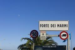 Доска города Marmi dei сильной стороны в Италии, Тоскане Стоковое Изображение RF