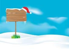 Доска для сообщений Санта Иллюстрация вектора