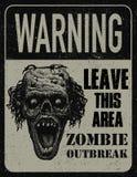 Доска знака вспышки зомби плаката Стоковые Фотографии RF