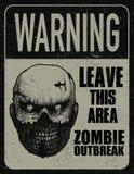 Доска знака вспышки зомби плаката Стоковая Фотография RF