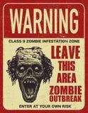 Доска знака вспышки зомби плаката Стоковое Фото
