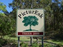 Доска знака входа в Esk используя игру слов, который нужно вызвать его PicturEsk Стоковые Изображения RF