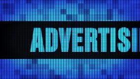 Доска знака дисплея с плоским экраном стены СИД скроллинга текста рекламного бюро передняя сток-видео
