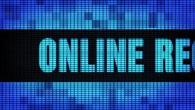 Доска знака дисплея с плоским экраном стены СИД скроллинга текста регистрации онлайн передняя акции видеоматериалы