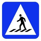 Доска знака Crosswalk Стоковое Изображение