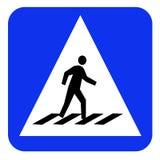 Доска знака Crosswalk Стоковые Фото