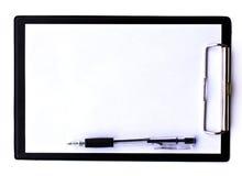 Доска и бумаги зажима Стоковое Изображение RF