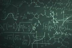 Доска и математика Стоковые Фото