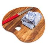 Доска и нож сыра Стоковое фото RF