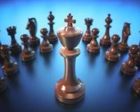 Доска короля шахматов Стоковая Фотография RF