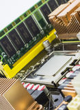 Доска матери компьютера Стоковое Изображение