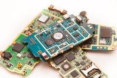 Доска мобильных телефонов электронная Стоковое фото RF