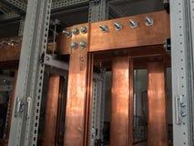 Доска наивысшей мощности электрическая с медными барами Стоковая Фотография