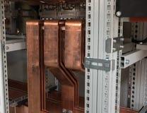 Доска наивысшей мощности электрическая с медными барами Стоковое Фото