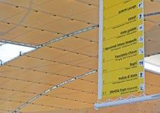 Доска объявлений информации на экспо 2015 в милане Стоковое фото RF